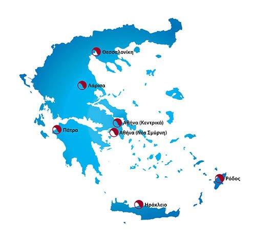 Κλινικές Μαλλιών Bergmann Kord - Χάρτης - Home Page