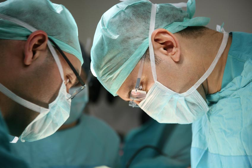Hair transplant doctors. Medical team.